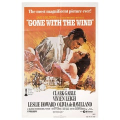 """""""Gone with the Wind"""" R1980 U.S. One Sheet Film Poster"""