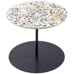 Gong Terrazzo Table in Varnished Anthracite Base by Giulio Cappellini