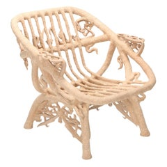 'Goo Lounge Chair' Wooden Chair with Ornamental Features, Schimmel & Schweikle