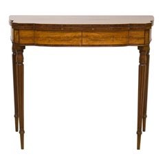 Good American Federal Boston Satinwood Inlaid Mahogany Game Table, Circa 1820