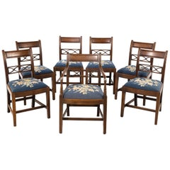 Good Early 19th Century Set of Seven Whitehaven Mahogany Framed Elbow Chairs