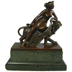 Good Grand Tour Bronze of Ariadne on a Panther