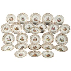 Good Late 19th Century Meissen Porcelain Dessert Service