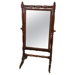 Good Mahogany Regency Period Cheval Dressing Mirror