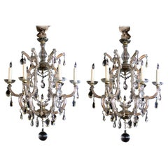 Good Pair of Continental Maria Theresa Basket-From Glass and Crystal Chandeliers