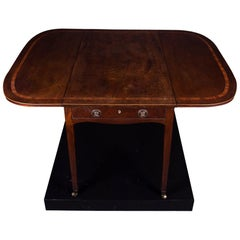 Pembroke Table circa 1800 with Brass Casters