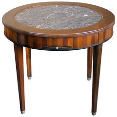 Good Quality French de Bournay Cherry and Walnut Parquetry Center Table