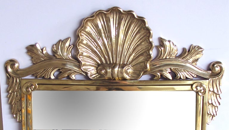 Good Quality Italian Hollywood Regency Solid Brass Mirror Decorative Crafts Inc