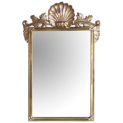 Good Quality Italian Hollywood Regency Solid Brass Mirror; Decorative Crafts Inc