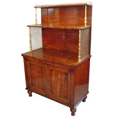 Good Quality Regency Mahogany Side Cabinet or Dwarf Bookcase