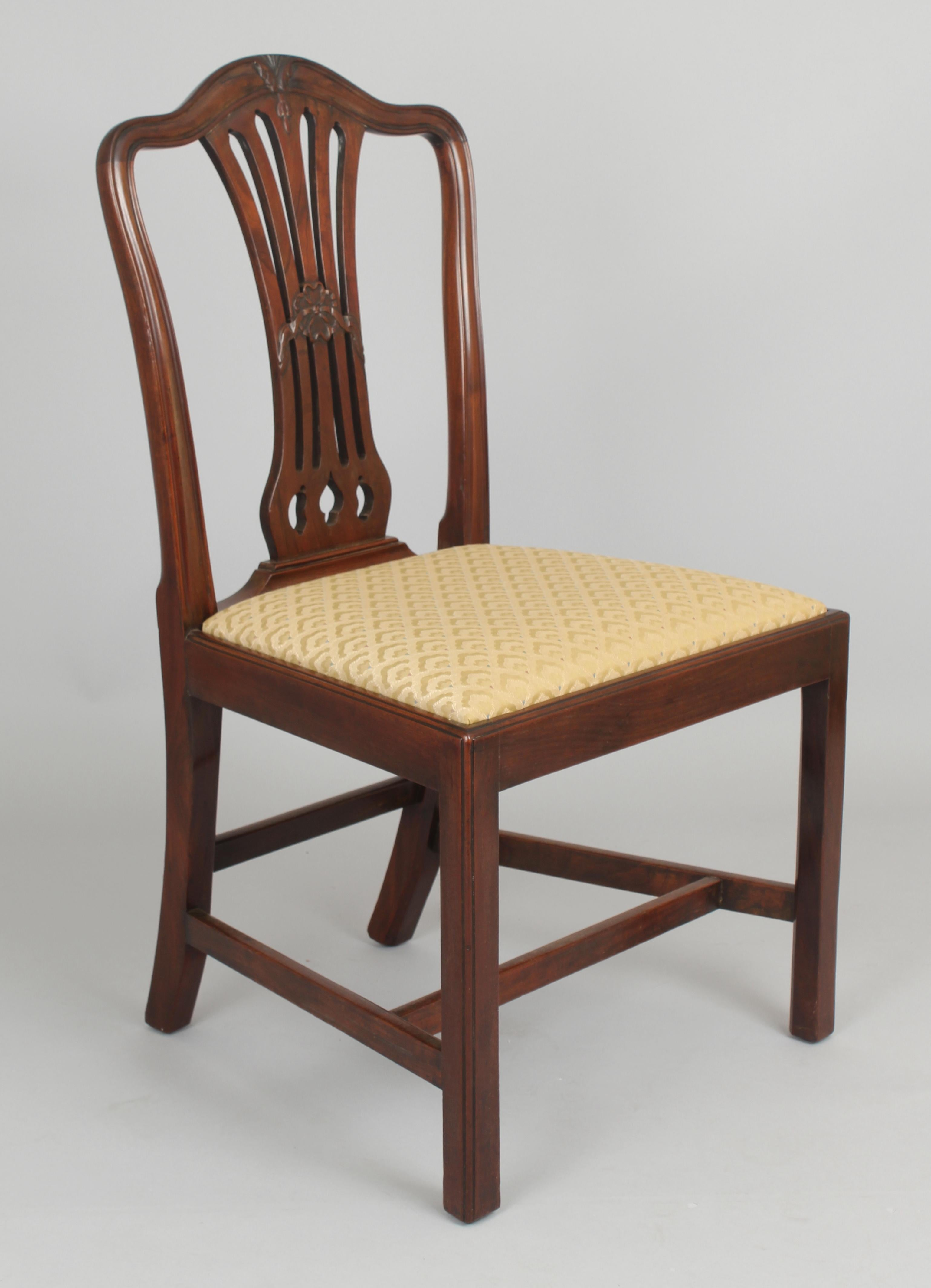 Good Quality Set of Eight Mahogany Dining-Chairs in the Hepplewhite Style