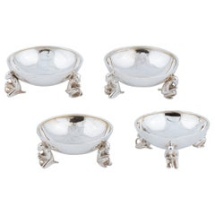 Good Set of Four Victorian Silver Salts