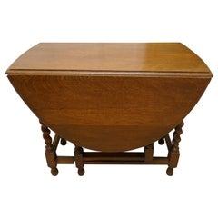 Good Solid Oak Victorian Gate Leg Table