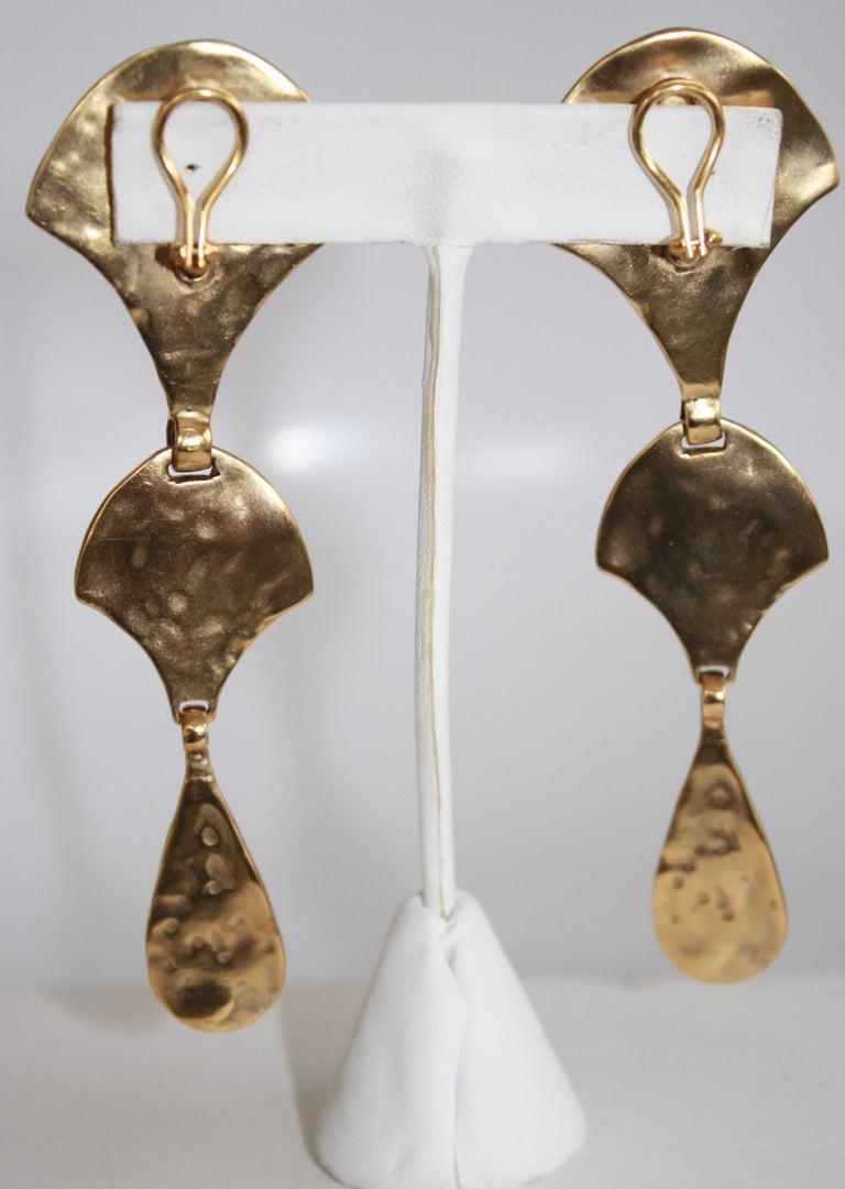 Goossens Byzantium Drop Earrings  In New Condition For Sale In Virginia Beach, VA