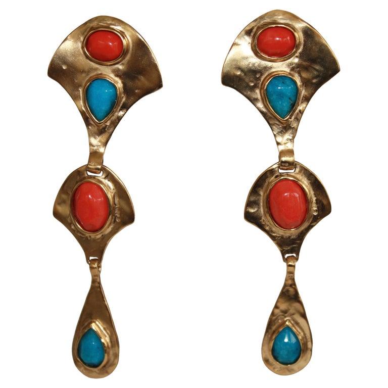 Goossens Byzantium Drop Earrings  For Sale