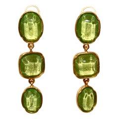 Goossens Paris 3 Cabochons Clip Earrings New Season
