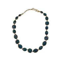 Goossens Paris Blue Tinted Rock Crystal Necklace