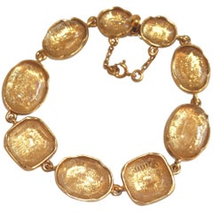 Goossens Paris Cabochon Rock Crystal Bracelet