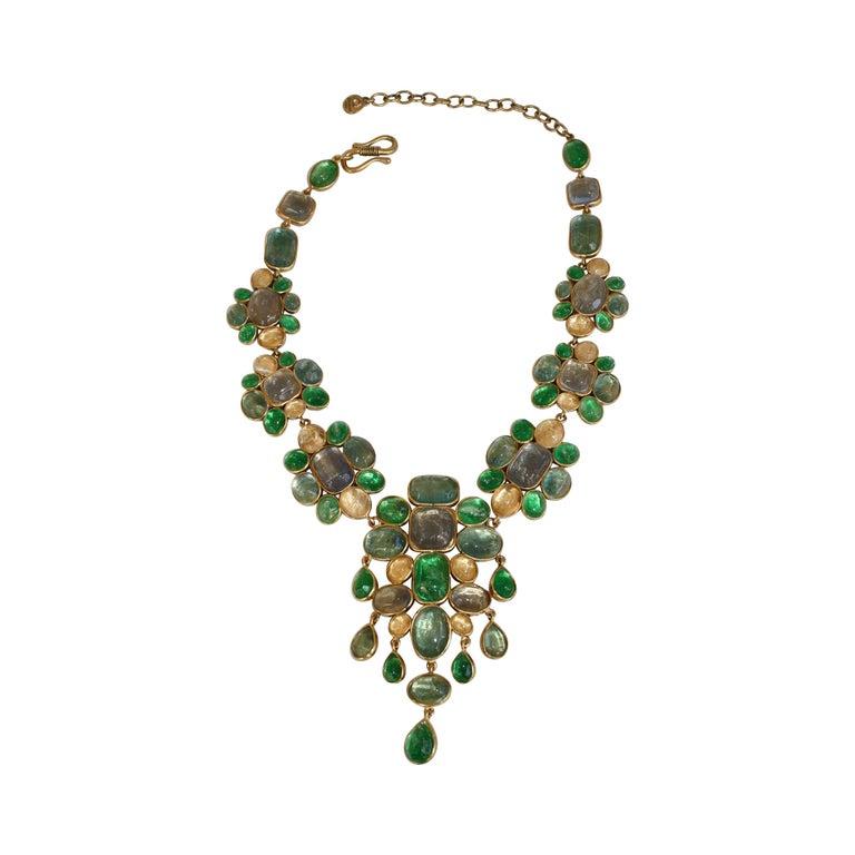 Goossens Paris Cocktail Cabochon Necklace For Sale