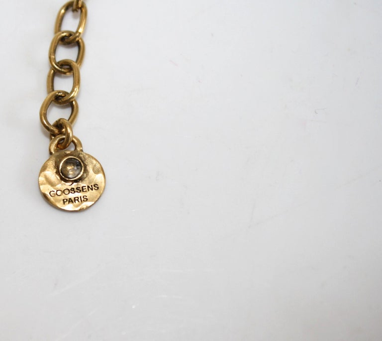 Women's Goossens Paris Cocktail Cabochon Statement Necklace For Sale