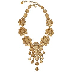 Goossens Paris Cocktail Cabochon Statement Necklace