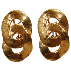 Goossens Paris Double loops Pierced Earrings