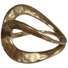 Goossens Paris Gilded Brass Ecume Cuff Bracelet