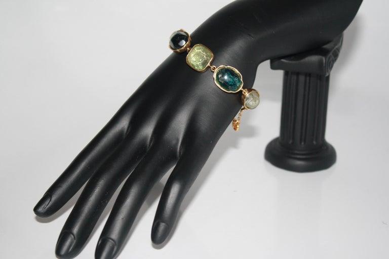 Goossens Paris Green Cabochons Bracelet 1