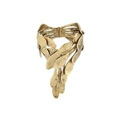 Goossens Paris Hinged Leaf Bracelet
