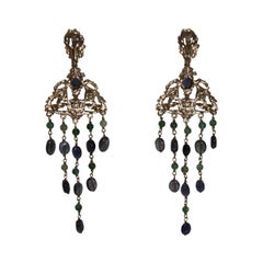 Goossens Paris Iolite Empire Earrings