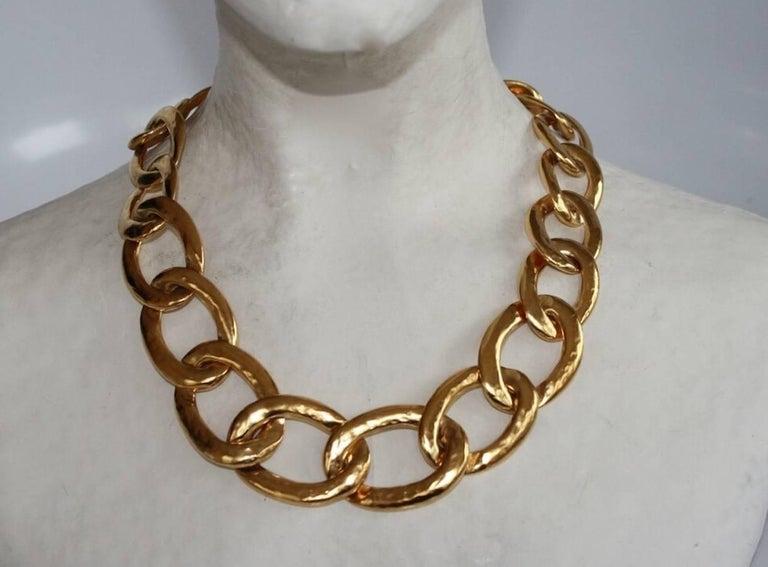Modern Goossens Paris Lhassa Link Necklace For Sale