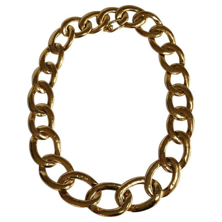Goossens Paris Lhassa Link Necklace For Sale