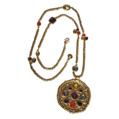 Goossens Paris Mini Cabochon Pendant Necklace