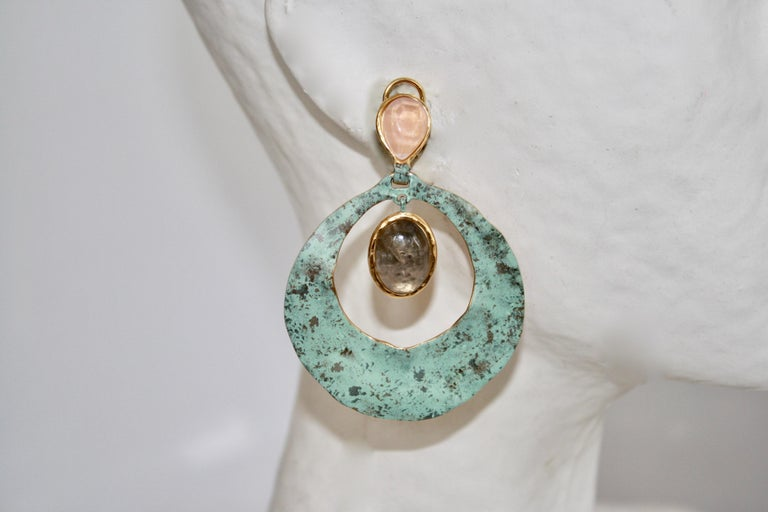 Goossens Paris Sea Glass Inspired Drop Earrings  In New Condition For Sale In Virginia Beach, VA
