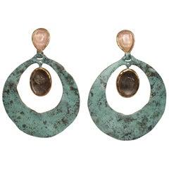Goossens Paris Sea Glass Inspired Drop Earrings