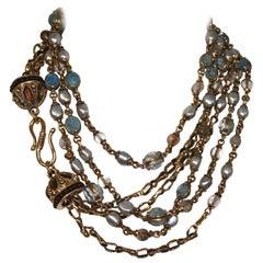 Goossens Paris Unique Crown Long Necklace