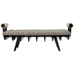 Gor Bench with Upholstered Leather Seat