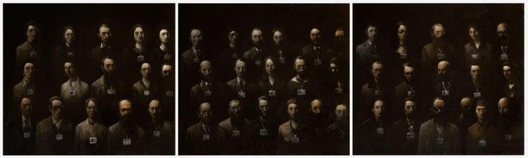 Goran Djurovic Figurative Painting - Visitors III (Triptych)