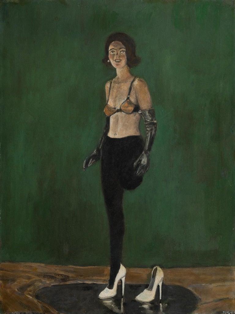 White Shoe - Painting by Goran Djurovic