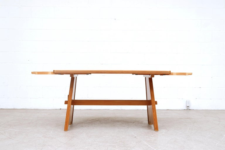 Mid-Century Modern Göran Malmvall Pine Dining Table with Leaves For Sale