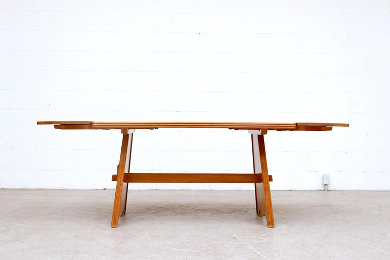 Dutch Göran Malmvall Pine Dining Table with Leaves For Sale