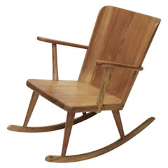Göran Malmvall, Rocking Chair in Pine, Sweden 1940s