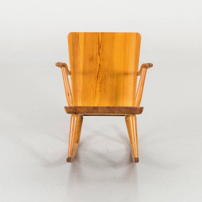 Scandinavian Modern Goran Malmvall Rocking Chair, by Karl Andersson & Soner, Sweden, 1945 For Sale