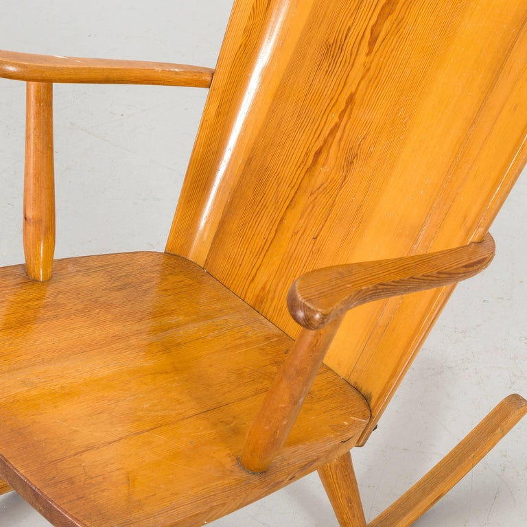 Swedish Goran Malmvall Rocking Chair, by Karl Andersson & Soner, Sweden, 1945 For Sale