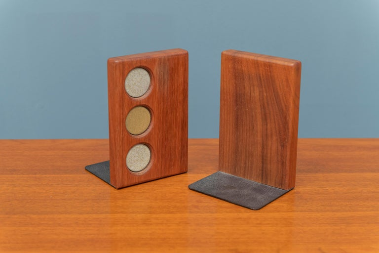 Mid-Century Modern Gordon and Jane Martz Bookends for Marshall Studios For Sale