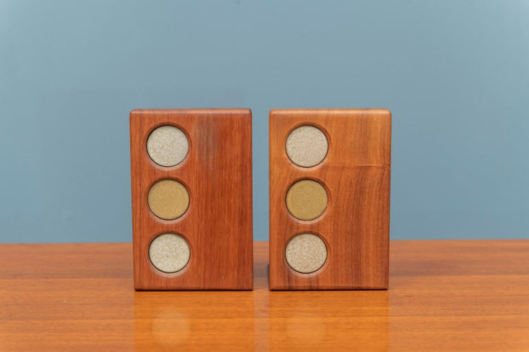 American Gordon and Jane Martz Bookends for Marshall Studios For Sale