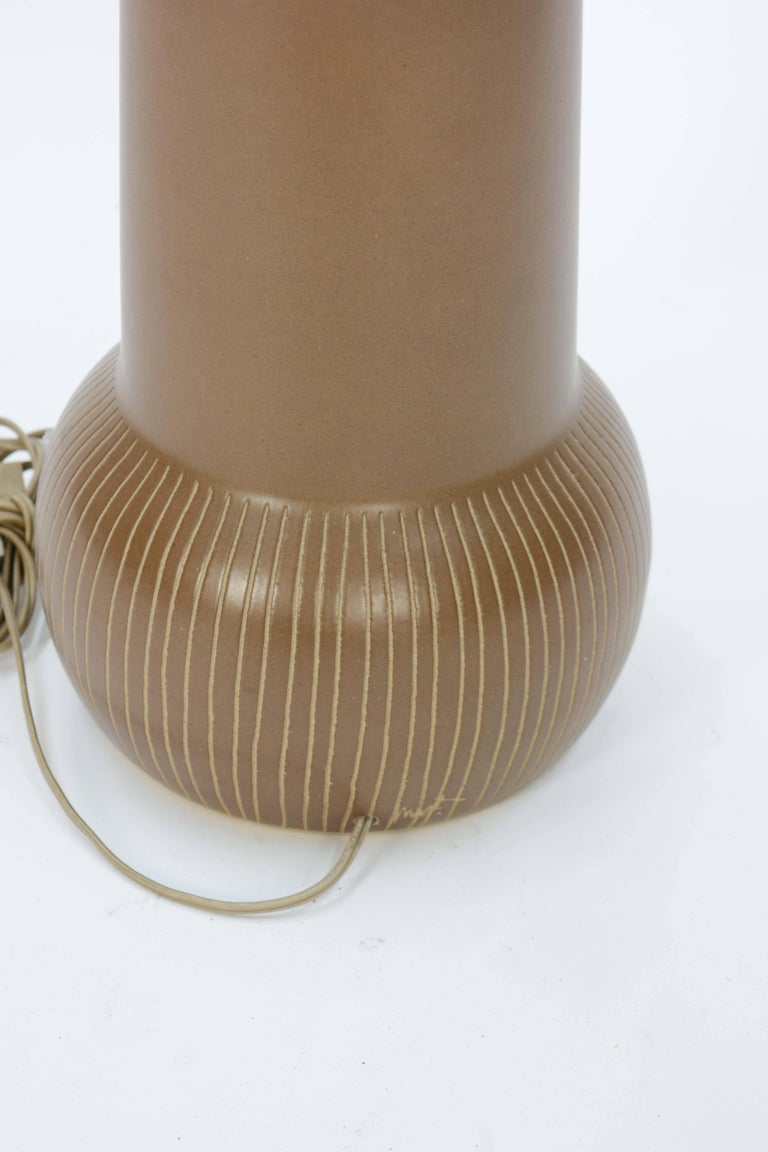 American Gordon and Jane Martz Double Bubble Etched Table Lamp for Marshall Studios For Sale