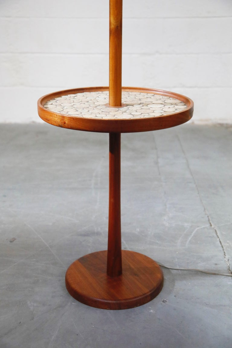 Mid-20th Century Gordon and Jane Martz for Marshall Studios Floor Lamp with Ceramic Tiles Table For Sale
