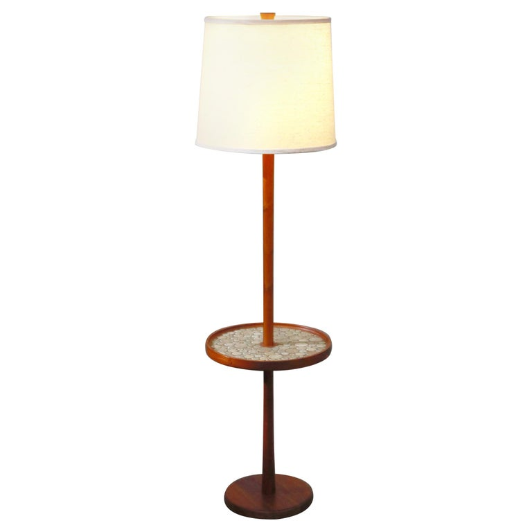 Gordon and Jane Martz for Marshall Studios Floor Lamp with Ceramic Tiles Table For Sale