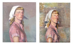 Pair of Mid Century Blocking Portrait Study by Gordon Cook